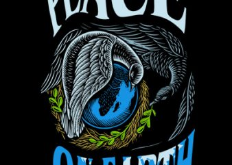 PEACE ON EARTH t shirt illustration
