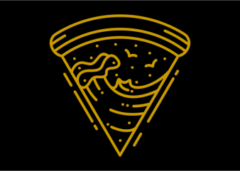 Pizza Waves design for t shirt