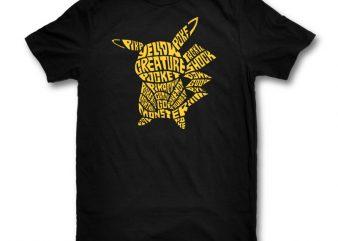 Pocket Monster t shirt design for download