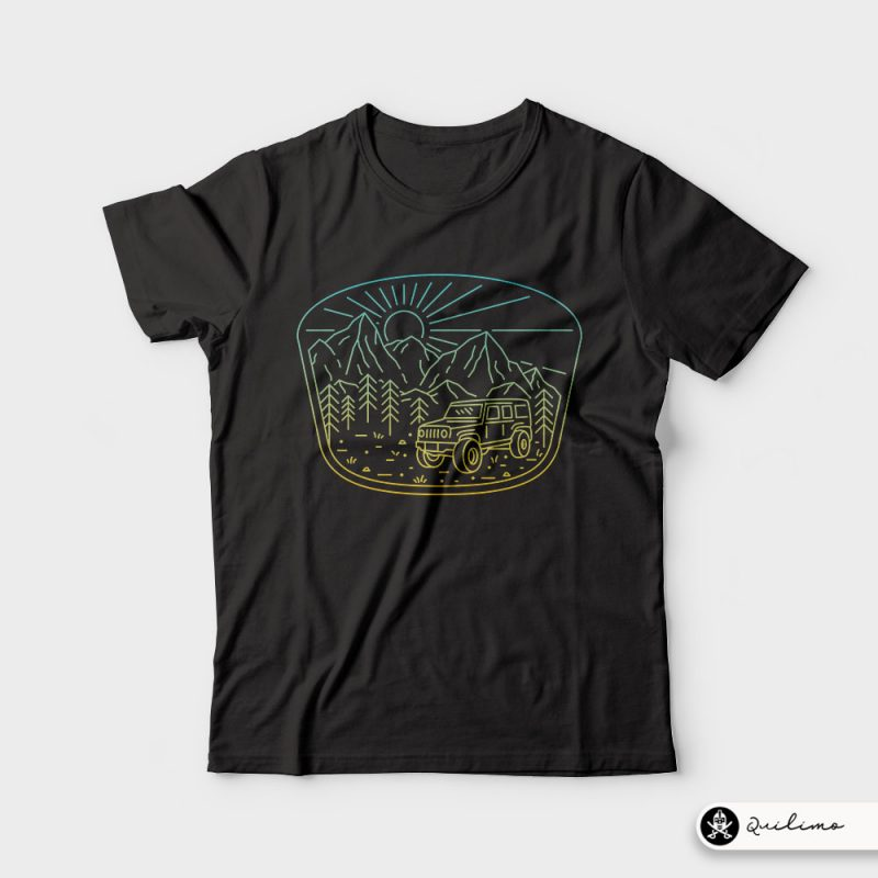 Expedition t-shirt designs for merch by amazon
