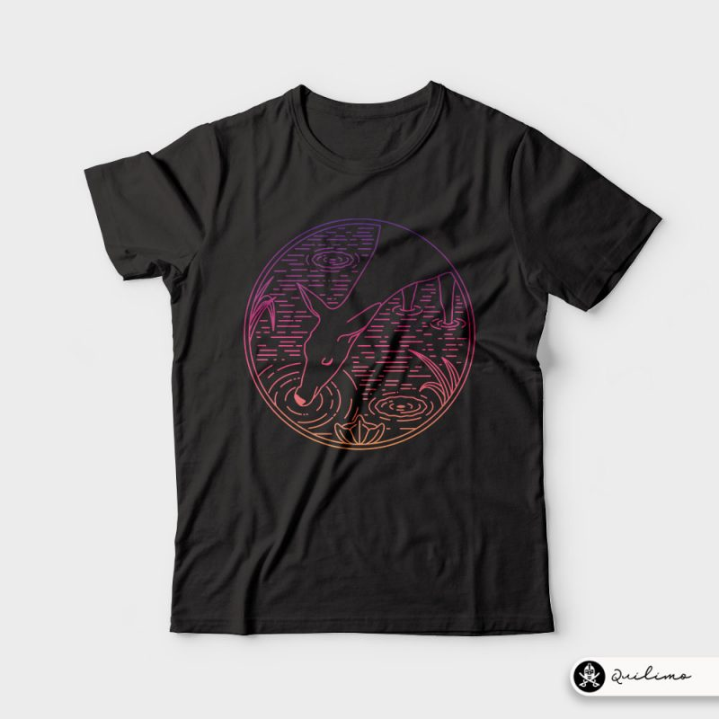 Deer Line t shirt designs for teespring