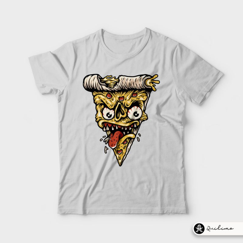 Pizza Monster t shirt designs for printify