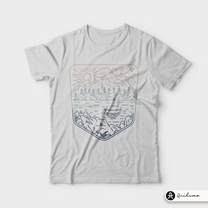 Canoe t-shirt designs for merch by amazon