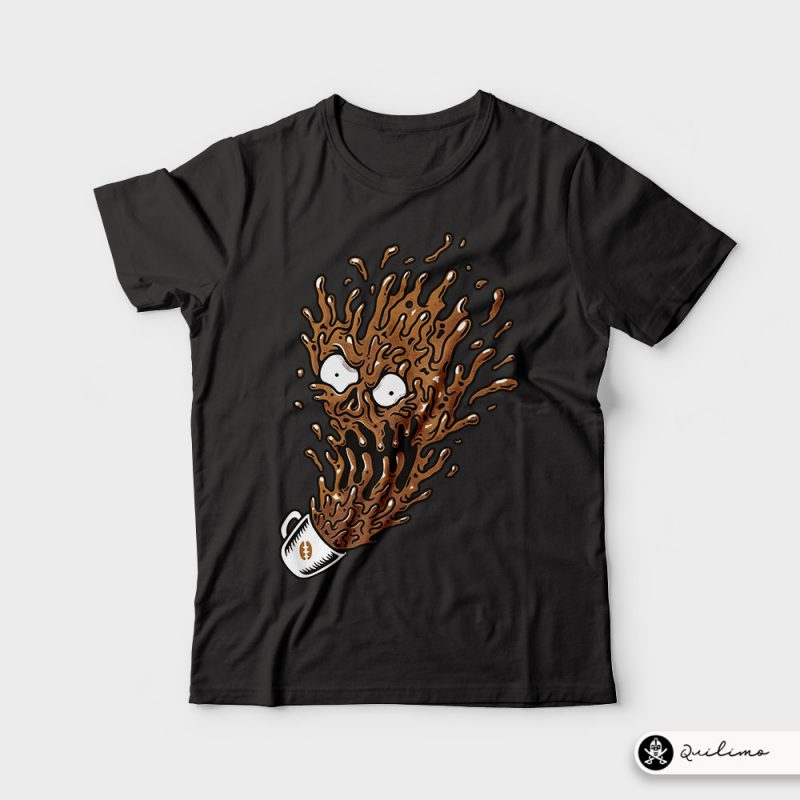 Coffee Monster tshirt design for merch by amazon