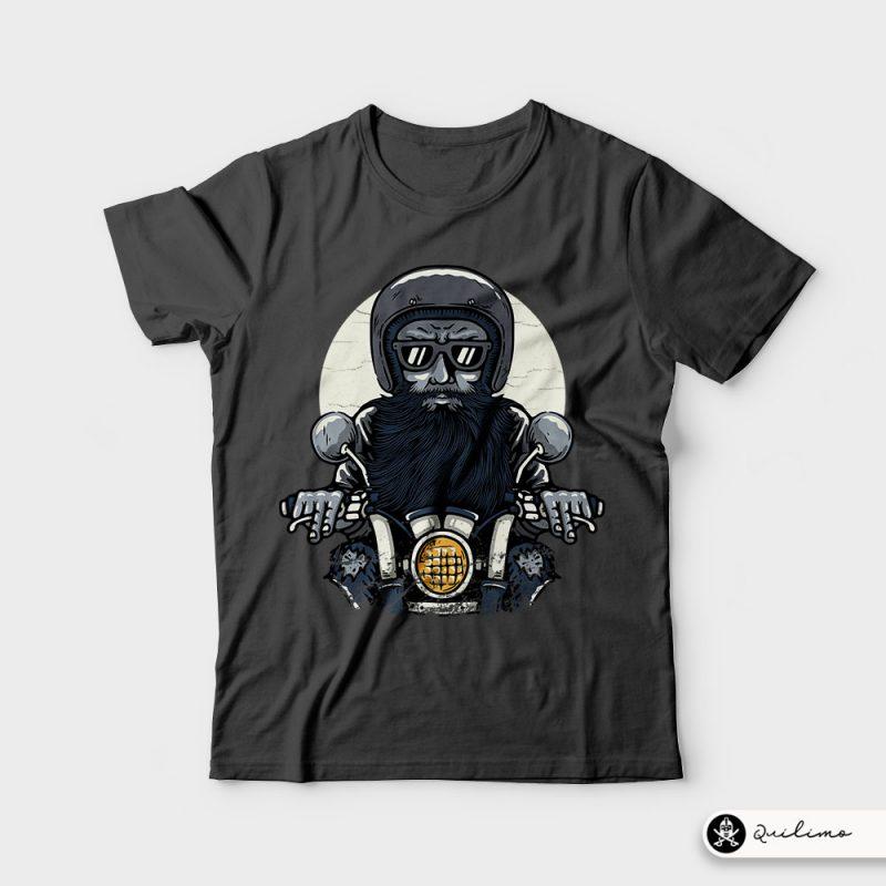 Old Biker t shirt design graphic