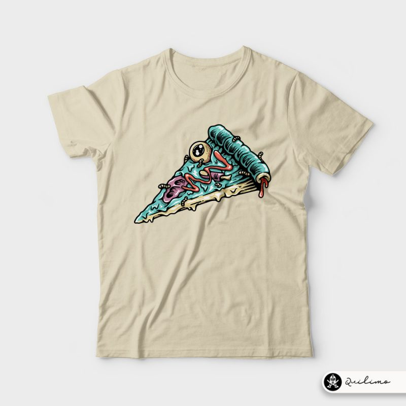 Pizza Zombie t shirt designs for merch teespring and printful