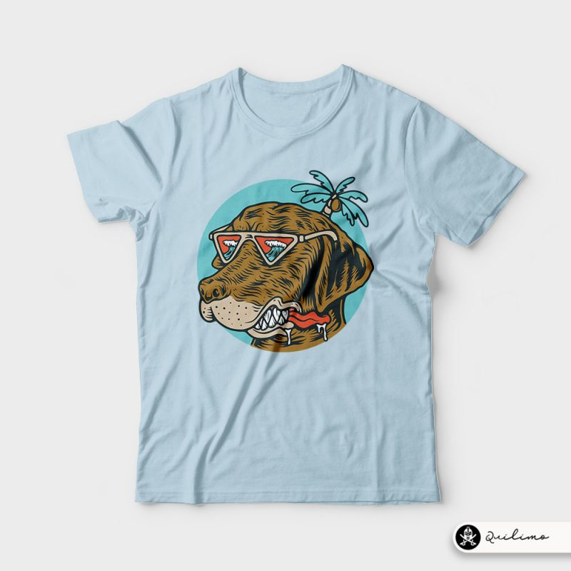 Chill Dog t shirt design graphic