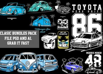 CLASSIC CAR T-shirt Designs Bundle
