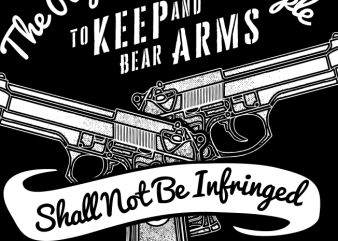 Shall Not Be Infringed t shirt template vector