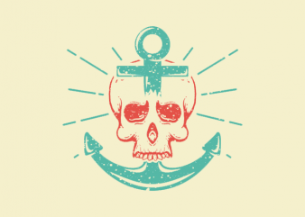 Skull Anchor vector t-shirt design for commercial use