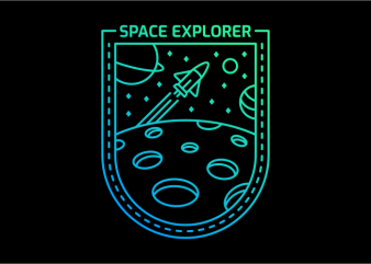 Space Explorer 252 t shirt template vector