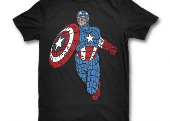 Star and Stripes Hero graphic t-shirt design