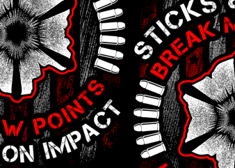 Sticks & Stones Break My Bones vector shirt design