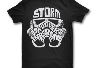 Storm Trooper print ready t shirt design