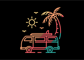 Summer Travel t shirt template vector