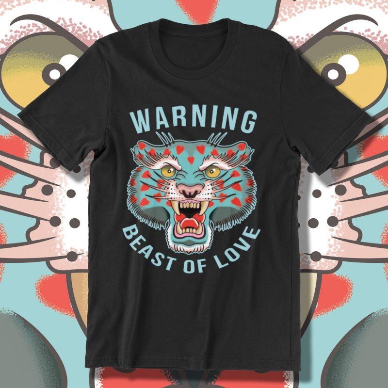 BEAST OF LOVE t shirt designs for merch teespring and printful