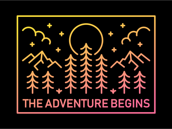 The Adventure Begins t shirt designs for sale