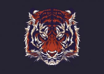 Tiger Head Tshirt Design