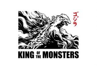 Godzilla 2019 Tshirt Design