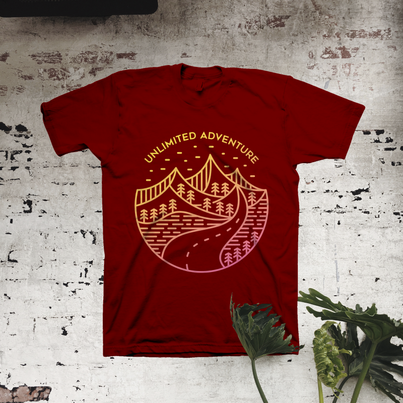 Unlimited Adventure tshirt design for merch by amazon