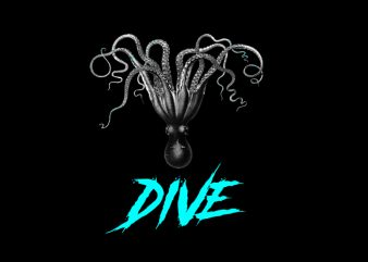 dive t shirt vector illustration