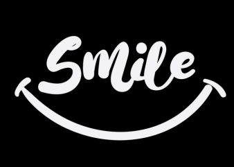 smile print ready vector t shirt design