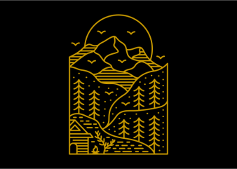 Wilderness Life 653 t shirt design for sale