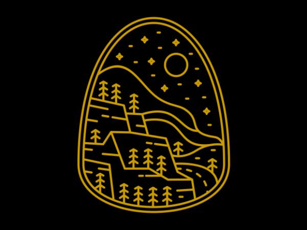 Wilderness Line design for t shirt