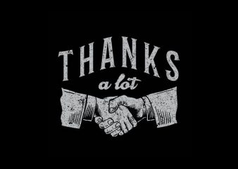 Thanks Vector t-shirt design