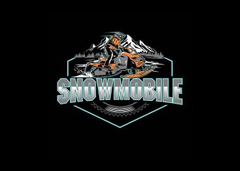 Snowmobile Vector t-shirt design