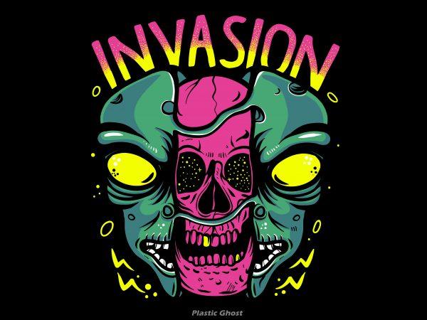 Alien Invasion buy t shirt design for commercial use
