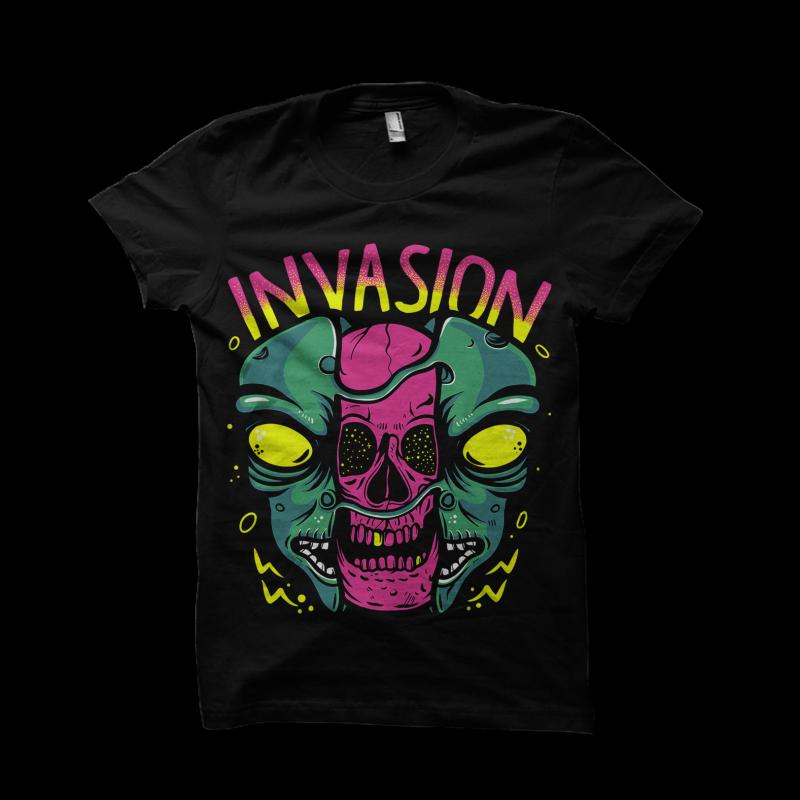 Alien Invasion t shirt designs for teespring