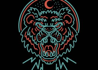 angry beast vector t-shirt design