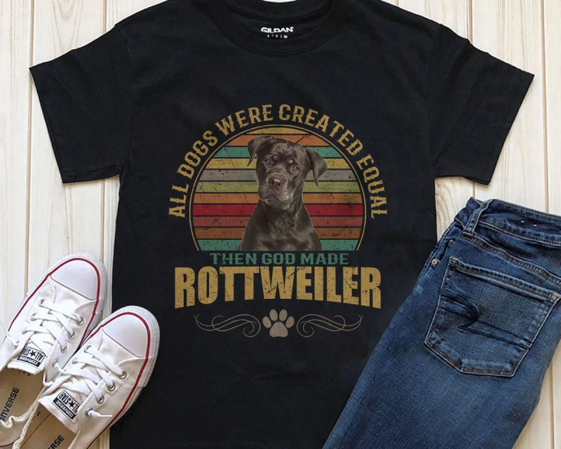 1 DESIGN 32 VERSIONS – DOGS – ALL DOGS ARE CREATED EQUAL THEN GOD MADE commercial use t shirt designs
