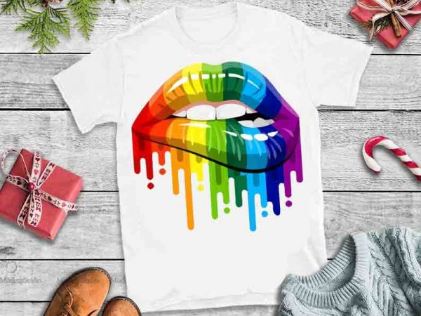 Dripping lips,Sexy Rainbow Dripping Lips SVG,Sexy Rainbow Dripping Lips design tshirt,Lips svg,LGBT Dripping Lips
