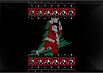 Basket Santa vector t shirt design for download