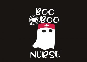 Boo Halloween Nurse tshirt design vector