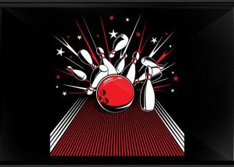 bowling t shirt template