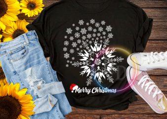 Ice Flower Merry Christmas T shirt
