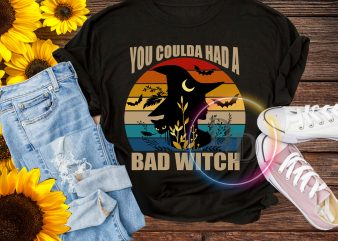 You Coulda Had A Bad Witch VIntage Halloween sister T shirt