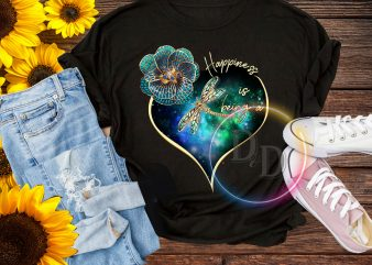 Butterfly Happiness is being a Mimi Mama Nana Hippie T shirt