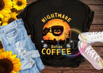 Halloween Nightmare Before Coffee T shirt