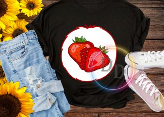 Halloween Bear Strawberry costume T shirt design for kids