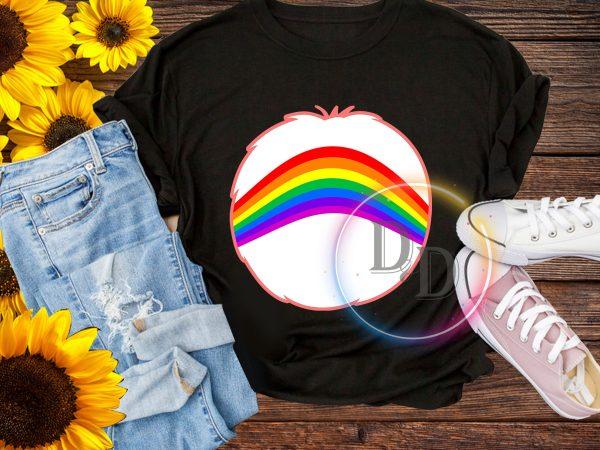 Halloween Bear Rainbown costume T shirt design for kids