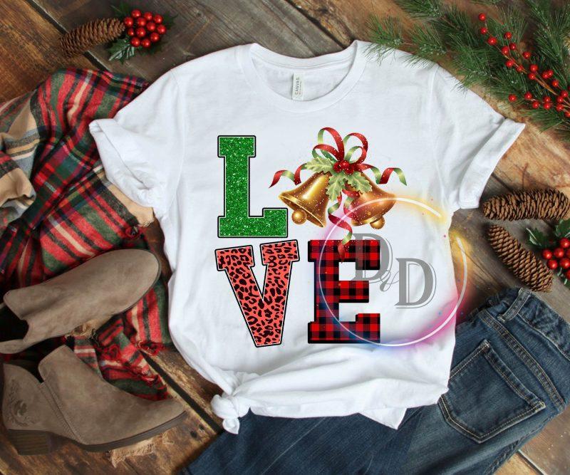 LOVE leopard fabric caro bells Merry Christmas T shirt buy t shirt designs artwork