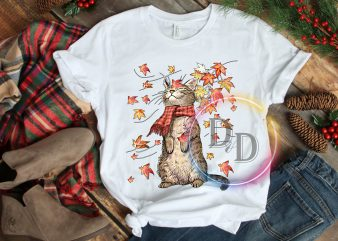 Autumn Cat T shirt