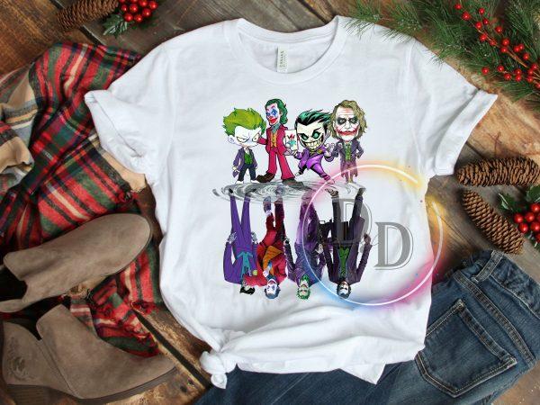 Joker chibi real Halloween costume design t shirt