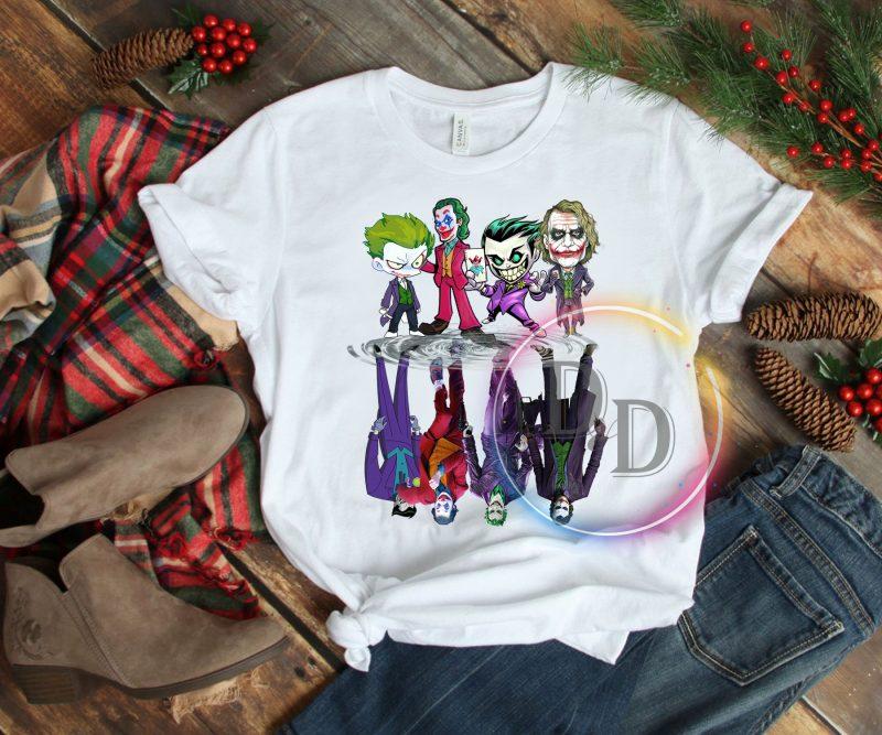 Joker chibi real Halloween costume design t shirt t-shirt designs for merch by amazon