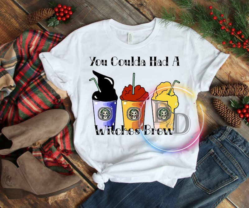 You Coulda Had A Witches Brew Halloween Milk Tea Witch sister T shirt t-shirt designs for merch by amazon