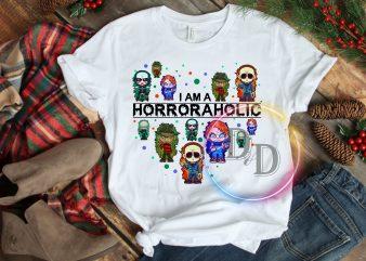 I am a Horroraholic Halloween Creepy Costume T shirt